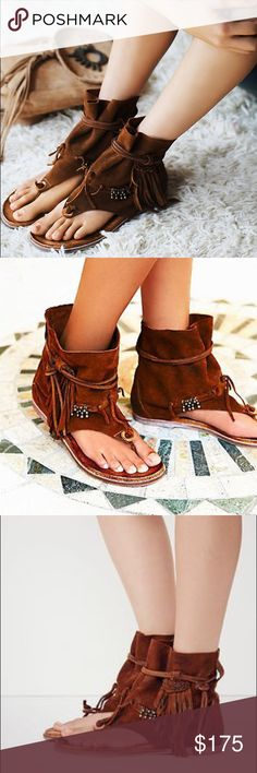 Free People Avarra Spanish crafted boho sandals Free People brown leather-suede Avarra boho style sandal. Beautiful sandal! Only worn a couple of times. Free People Shoes Sandals