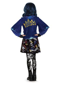 picture of evie descendants | Girls Deluxe Evie Descendants Costume Image 2