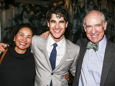 Darren Criss snaps a photo with his proud parents, Cerina Bru and Charles William Criss.