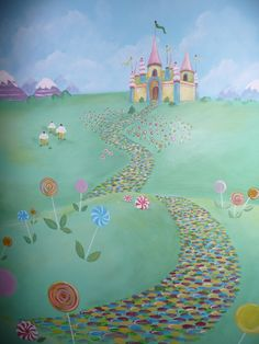 1000 images about murals on pinterest wall murals wall for Candyland wall mural