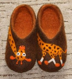 Women/Men felted slippers home shoes What happened in by Galchik, $95.00