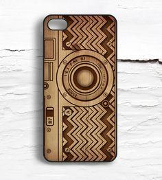 iPhone Vintage Camera Wood Print Case