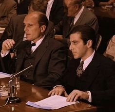 What did you think about this scene? Michael Corleone & Tom Hagen The Godfather . Corleone Family, Don Corleone, The Godfather Wallpaper, The Godfather Part Ii, Gangster Movies, Robert Duvall, Francis Ford Coppola, Boss Man, Al Pacino