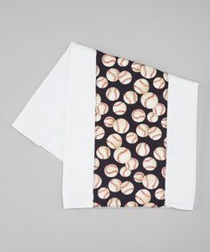 Take a look at this White & Navy Baseball Burp Cloth by Too Sweet on #zulily today!