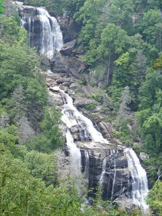 At 700 feet the Whitewater Falls are the highest falls series in the East (the Upper ones are 411 feet). The falls are close to Devils Fork and Oconee State Park and you can get to the park from highways 28, 107, 11 and 130