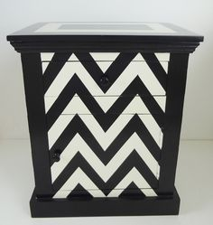 Be still my heart- chevron bedside table http://decorationdesignblog.com/2012/06/orson-and-blake-on-trend-interior-design-homewares-furniture-accessories/