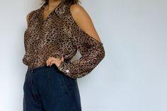 DIY Weekly – Leopard Print Shoulderless Shirt