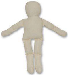 Pre-Stuffed Natural Muslin Doll