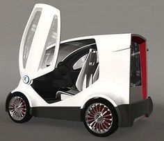 Environmental Smart Cars are brought by the CityAnts Concept to allow an eco-friendly way to commute and drive. There will be CityAnt stations to pick up, charge and return vehicles easily. Bike With Sidecar, Tricycle Bike, Bmw Isetta, Moto Car, Microcar, Electric Cars, Electric Vehicle, Smart Car, Car Wheels