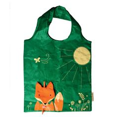 Be ecofriendly with this fun Fox Foldable Shopping Bag! Coming in a fox face case and is easy to take to the shop. When folded out the polyester shopping bag is green with the fox case being a decoration on the bag - handy as well as cute. Reusable Shopping Bags, Reusable Bags, Shopping Bag Design, Fox Face, Sass & Belle, Gifts Under 10, Fox Design, Bago, Cute Gifts