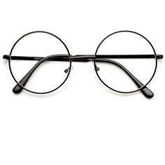 Vintage Lennon Inspired Clear Lens Round Frame Glasses ($9.99) ❤ liked on Polyvore featuring accessories, eyewear, eyeglasses, round eyeglasses, circle glasses, metal frame eyeglasses, vintage eyeglasses and vintage round glasses