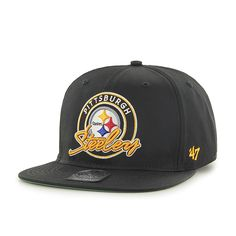 new product ca729 d4bf4 Pittsburgh Steelers Virapin Black 47 Brand Adjustable Hat
