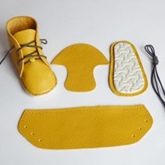 The full shoe making kit to make AKI First Baby Shoes at Small to TALL