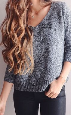 I dont know what it is about this simple sweater that I love so much but it looks tailored to perfection