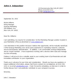 cover letter examples cover letter examples quality life resources - Resume Cover Letter Template