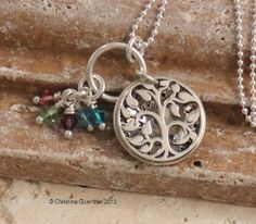 Isn't this beautiful and a mothers necklace with the kids birthstones!!! Love it