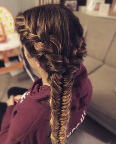 French/fishtail side braid