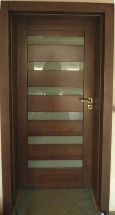 Modern Entrance Door, Modern Wooden Doors, Modern Exterior Doors, Contemporary Front Doors, Home Door Design, Bedroom Door Design, Door Gate Design, Door Design Interior, Wooden Front Door Design