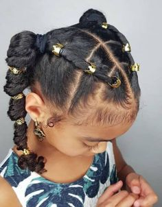 35 Amazing Natural Hairstyles for Little Black Girls Fishtail Braids Natural Curly Hair Lil Girl Hairstyles, Black Kids Hairstyles, Natural Hairstyles For Kids, Kids Braided Hairstyles, Black Hairstyle, Toddler Hairstyles, Hairstyles Videos, Beautiful Hairstyles, Short Haircuts