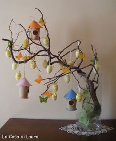 Craft Work For Kids, Decor Crafts, Diy And Crafts, Diy Osterschmuck, Easter Flower Arrangements, Easter Tree Decorations, Diy Ostern, Easter Parade, Hoppy Easter