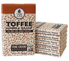 Taza Stone Ground Toffee Almond and Sea Salt Amaze Bar
