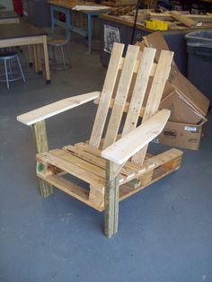 ADK Pallet Chairs #Pallets, #Recycled