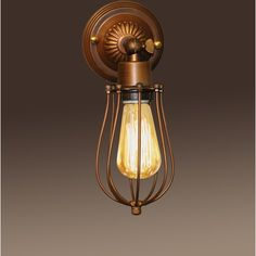 Frances 1-light Antique 5-inch Edison Wall Lamp with Bulb