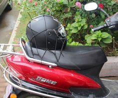 Motorcycle Bike Bungee Cords Mesh Cargo Net ATV Bungee Tank Helmet Web  #unbranded