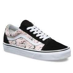 04ec7ef35f6 NEW Men Vans Peanuts Old Skool Smack Pearl Pink White Snoopy Charlie Brown