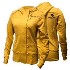 University Girls Apparel (WVU B & E alumni-owned company)- Button Up Fleece Jacket now available for $60 at bestore.wvu.edu