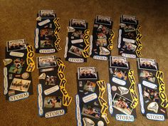 wrestling locker decorations. Nine boys made State. Each one is a little different depending on pictures size.