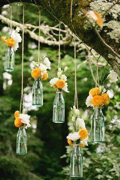 Idée créative de la décoration florale mariage