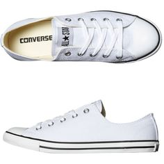 Converse Womens Shoes Converse Chuck Taylor All Star Dainty Lo Shoe New In White (220 PLN)