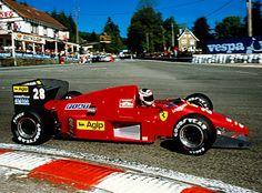Stefan Johansson  Ferrari  Spa 1986