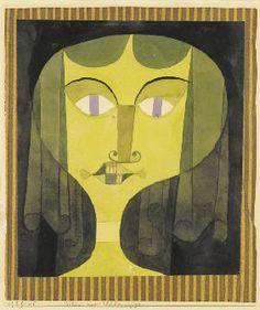 Paul Klee - Portrait of a violet-eyed woman