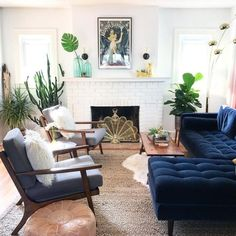 Blue couch living room - Sven Cascadia Blue Right Sectional Sofa – Blue couch living room Living Room With Fireplace, New Living Room, Living Room Sofa, Apartment Living, Living Room Decor, Small Living, Cozy Living, Modern Living Room Furniture, Kitchen Living