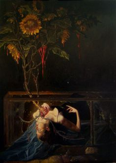 Creepy and beautiful, all at the same time. Botanica 23 by Gail Potocki. Creepy and beautiful, all at the same time. Botanica 23 by Gail Potocki. Art Noir, Renaissance Kunst, Posca Art, Arte Obscura, Illustration Art, Illustrations, Arte Horror, Horror Art, Classical Art
