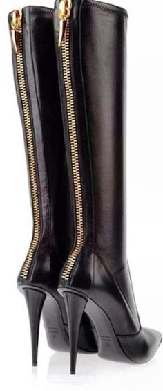 Giuseppe Zanotti Zip-Up High-Heeled Boots for Ladies