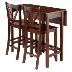 Have to have it. Winsome Trading Lynnwood 3 Piece Counter Height Dining Table Set - $269.99 @hayneedle