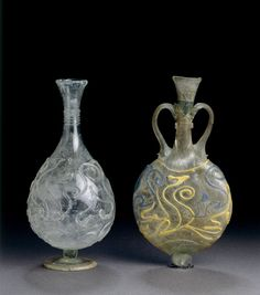Flasks - AD 300 - Found in North Rhine - Westphalia Roman Period Germany (Source: The British Museum)