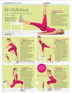 Butt workout - Click image to find more Health & Fitness Pinterest pins