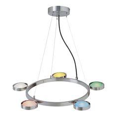 Sherbet 5-Light Ceiling Lamp, Multicolor