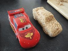 Cars topper using RKT Fondant Figures, Fondant Cakes, Cake Topper Tutorial, Cake Toppers, Cupcakes, Cupcake Cakes, Rice Krispies, Mcqueen Car Cake, Disney Cars Cake