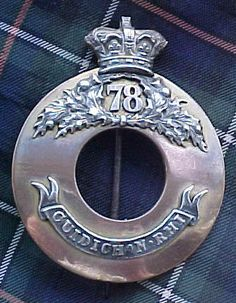 The 78th (Ross-Shire Buffs) Officers Plaid Brooch  What we have here is a magnificent,very early and rare example of 78th regimental Insignia.