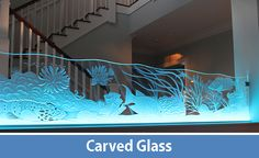 Hand crafted carved, etched and illuminated glass by glass artist Peter Edward Jurgens. www.krystalglasscompany.com