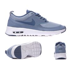 Nike Womens Air Max Thea Text Trainers Blue Grey Ocean Fog S92388