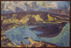 Mountford Tosswill (Toss) Woollaston New Zealand - Devil's Thumb, Nelson Tossed, New Art, New Zealand, Devil, Shapes, Marsden Hartley, Painting, Image, Landscapes