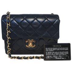 Chanel Black Leather Mini Flap Classic Shoulder Bag