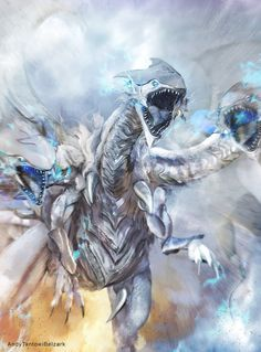 Blue Eyes Ultimate Dragon by andytantowibelzark on DeviantArt