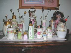 Some of my holders, pins & salt/sugar shakers
